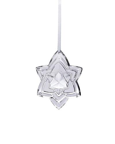 2018 Annual Crystal Christmas Ornament, Silver