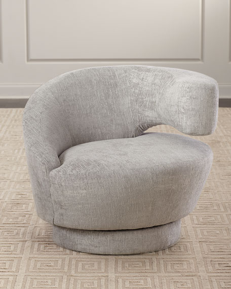 Interlude Home Arabella Right-Arm Swivel Chair