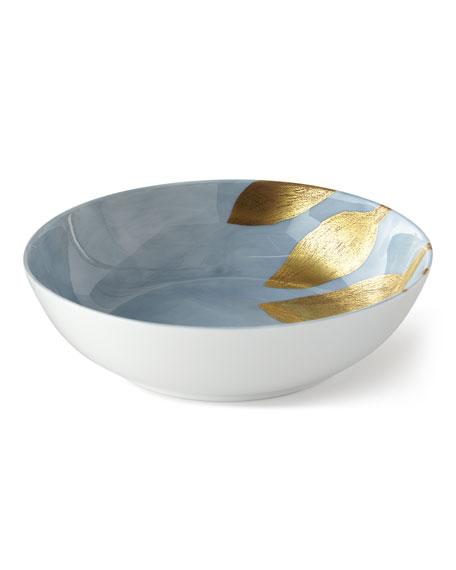 Haviland & Parlon Daphne Lavande Gold-Leaf Cereal Bowl,