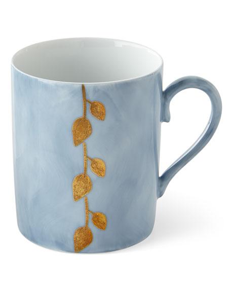 Daphne Lavande Gold-Leaf Mug, Blue