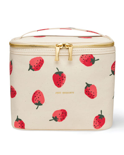 strawberries lunch tote