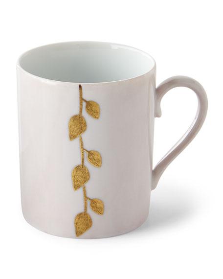 Daphne Camelia Gold-Leaf Mug, Pink