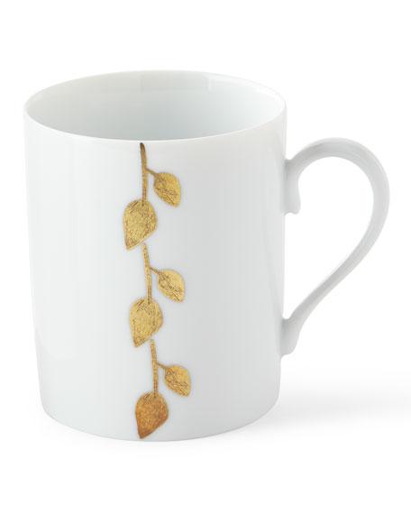 Daphne Gold-Leaf Mug, White