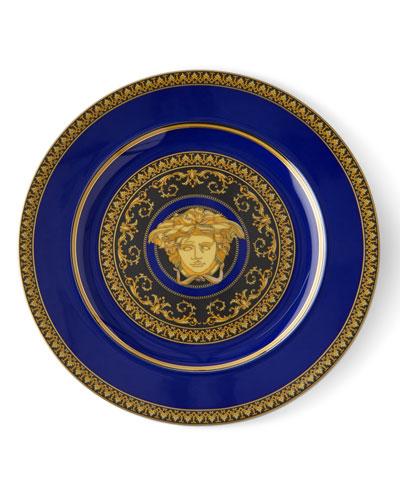2001 Medusa Blue Dessert Plate