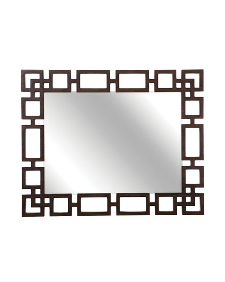 Bernhardt Haven Greek Key Rectangle Wall Mirror