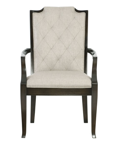 Bernhardt Sutton House Tufted Dining Arm Chairs (Pair)