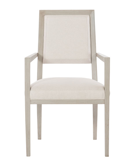 Bernhardt Axiom Upholstered Dining Arm Chairs (Pair)