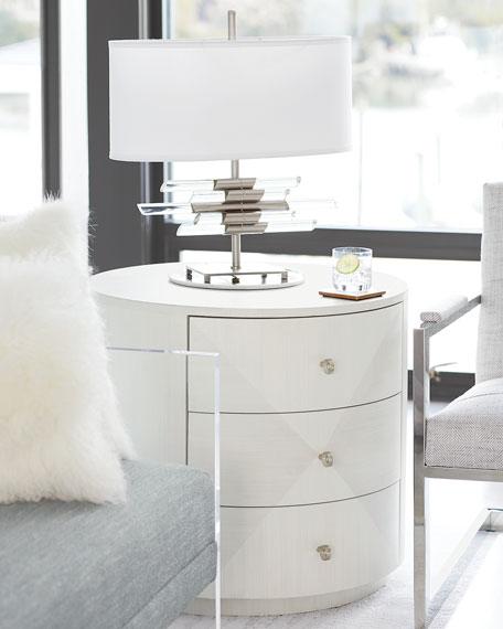 Bernhardt Axiom Round 3-Drawer Side Table