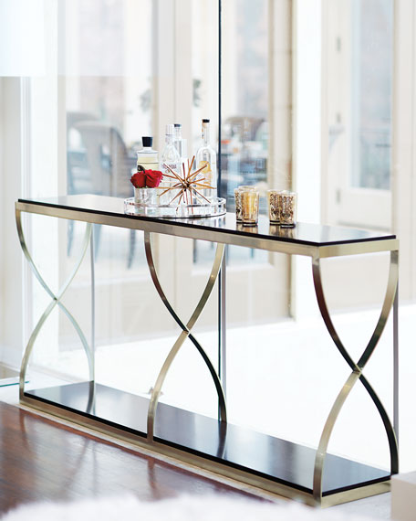 Bernhardt Miramont Metal-Base Console Table