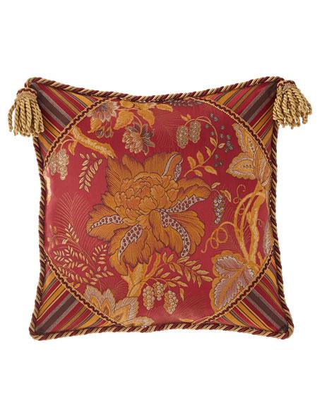Francesca Boutique Pillow with Tassel Trim