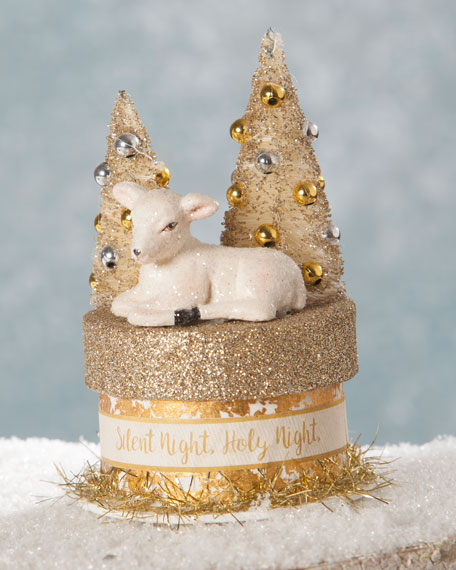 Bethany Lowe Silent Night Little Lamb Box
