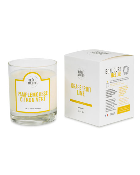 La Belle Meche Grapefruit and Lime Scented Candle,