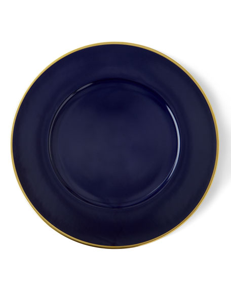 Anna Weatherley Porcelain and 24k Gold Charger