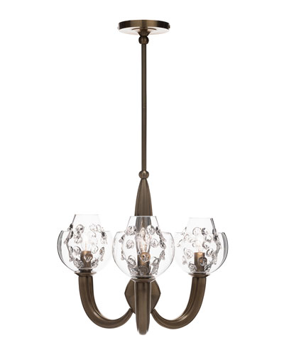 Florence Double Shade on Brass Paris Chandelier