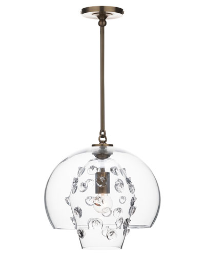 Florence Grande Double Shade Brass Pendant