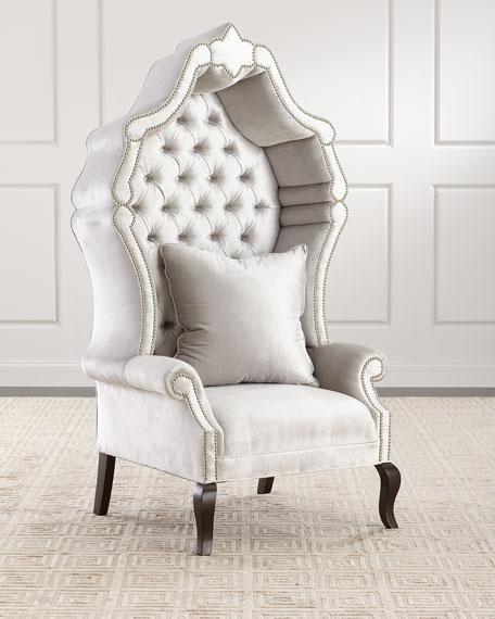 Antoinette Hooded Hostess Chair