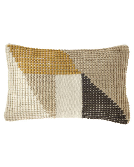 Geometric Hooked Oblong Pillow