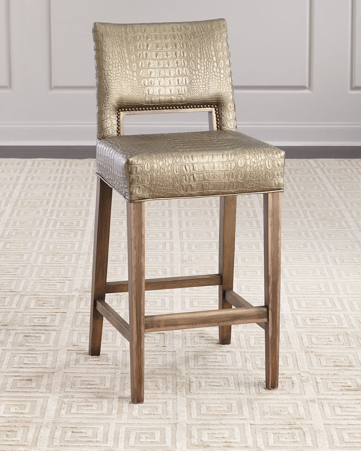 Old Hickory Tannery Avery Bar Stool Neiman Marcus