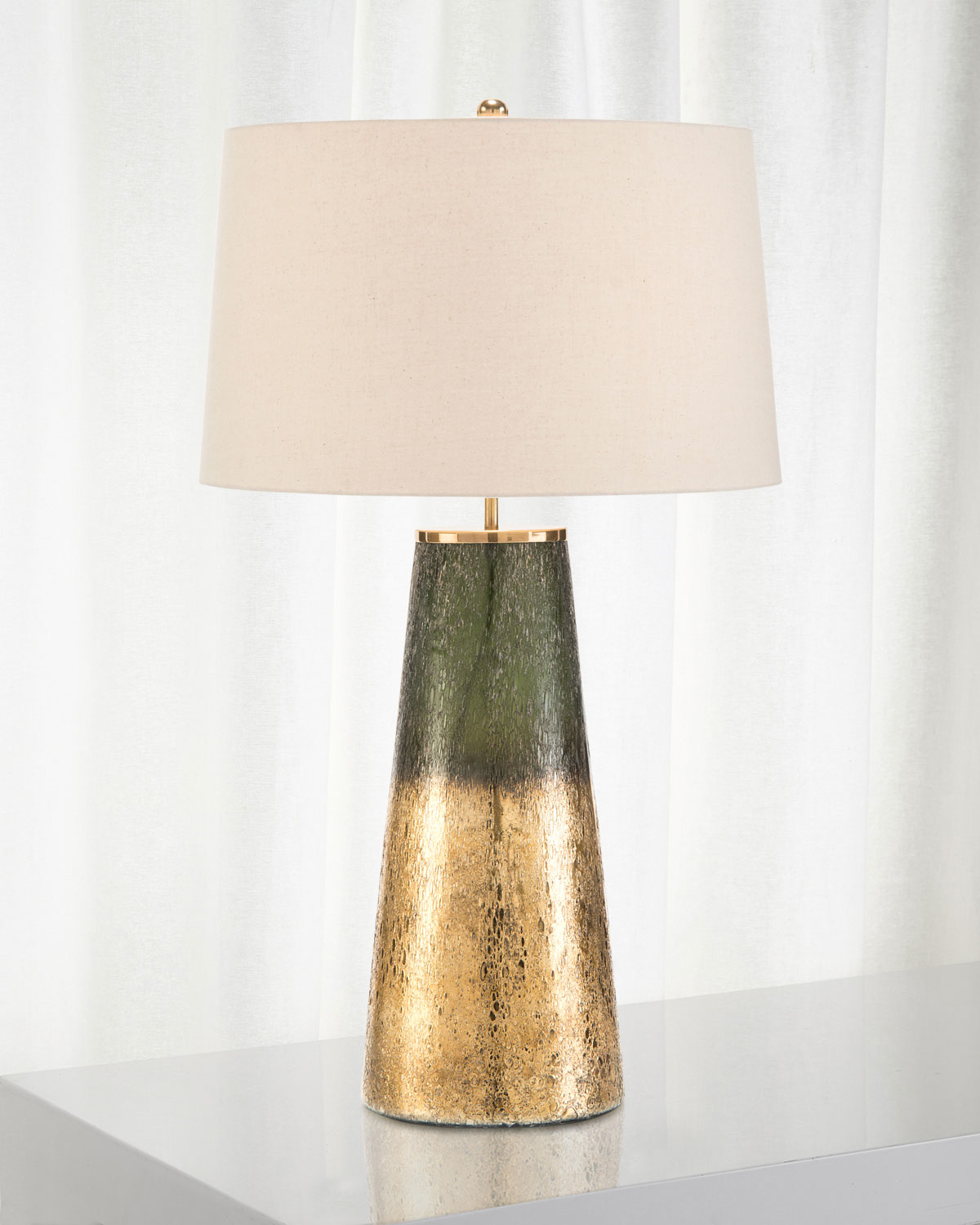John Richard Collection Charcoal Gold Glass Table Lamp Neiman Marcus