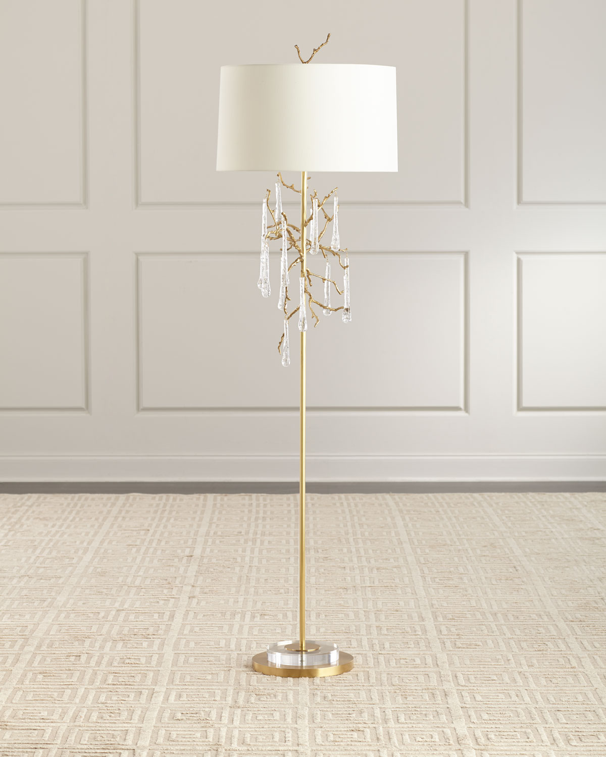 Loor Crystal Drop Floor Lamp