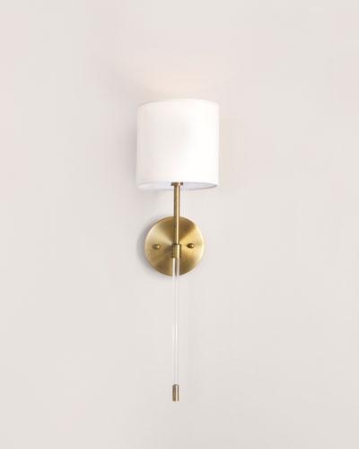 Acrylic & Brass Sconce