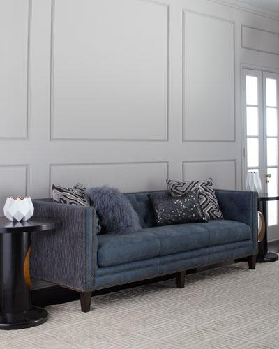 Jillian Tufted Leather Sofa