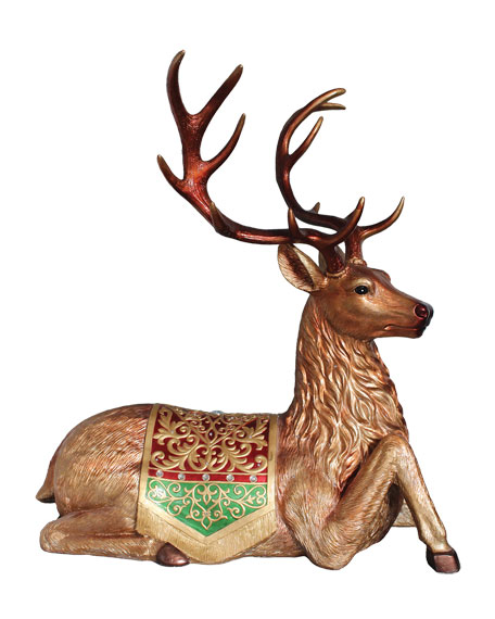"""Deer Laying Down Outdoor Christmas Decoration, 30"""""""