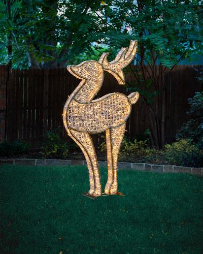 3D Deer with Lights Indoor/Outdoor Christmas Decoration, 6'6