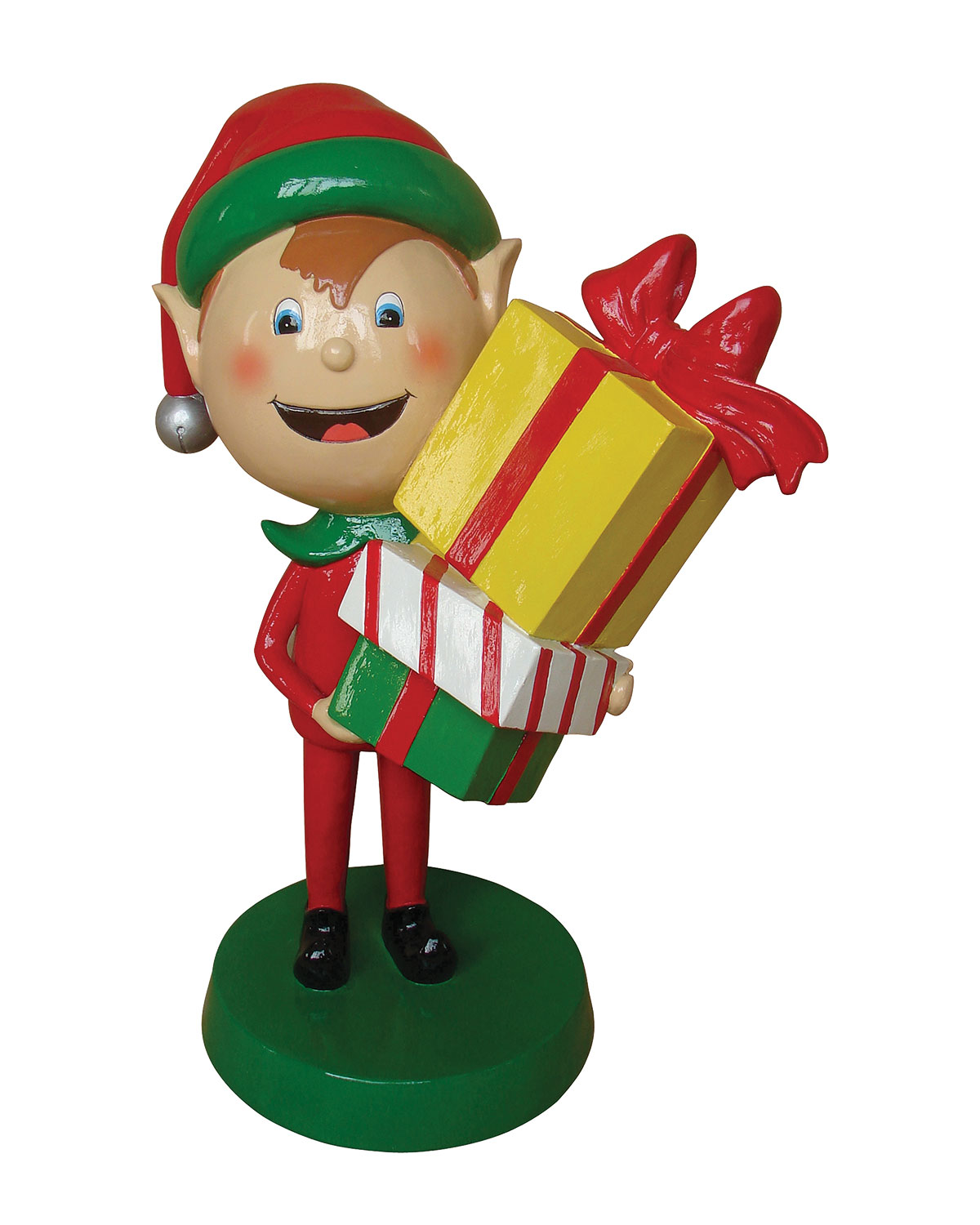 live form elf with gift box outdoor christmas decoration 30 - Elf Outdoor Christmas Decorations
