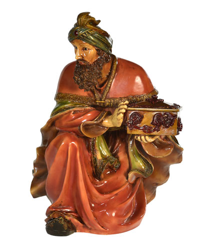 Live Form Small King Melchior Nativity Outdoor Christmas Decoration, 30