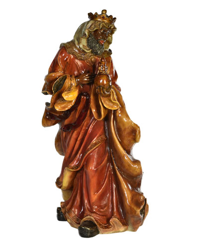 Live Form Small King Balthazar Outdoor Christmas Decoration, 40.5