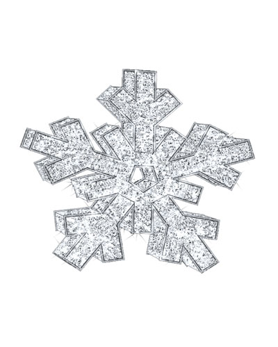 3D Snowflake with Lights Indoor/Outdoor Christmas Decoration, 6'6