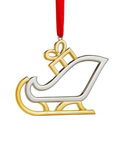 Holiday Santa's Sleigh Ornament