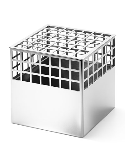 Matrix Cube Stainless Steel Medium Vase