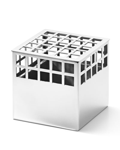 Matrix Cube Mirror Stainless Steel Small Vase