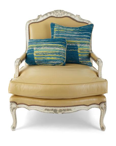 Garten Leather Bergere Chair