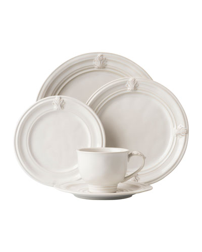 5-Piece Acanthus Whitewash Dinnerware Place Setting