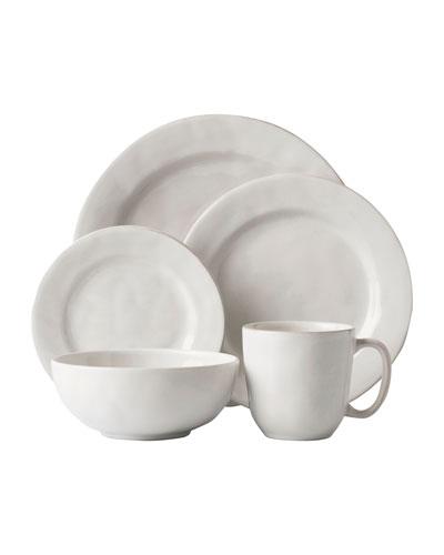 5-Piece Puro Whitewash Dinnerware Place Setting