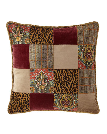 Spencer Square Patchwork Pillow