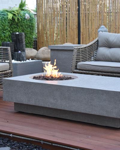 Metropolis Outdoor Fire Table  Natural Gas