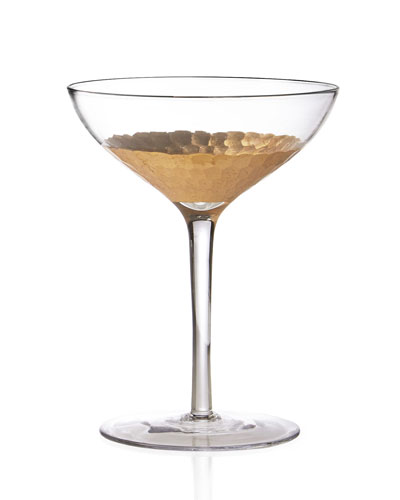 Daphne Gold Champagne Coupe Glasses, Set of 4