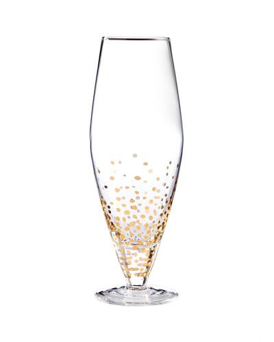 Gold Luster Prosseco Wine Glasses, Set of 4