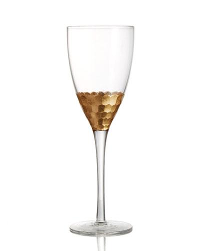 Daphne Gold Red Wine Glasses, Set of 4