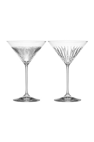 Reed & Barton New Vintage Martini Glasses, Set of 2