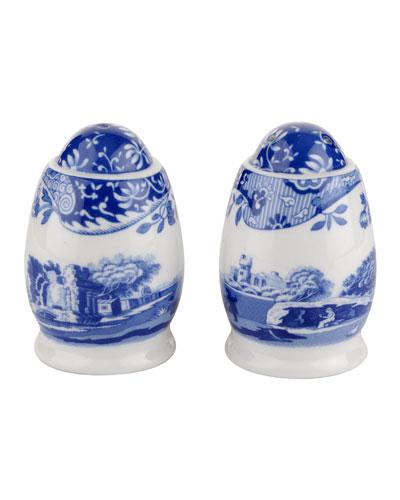 Blue Italian Salt and Pepper Shakers