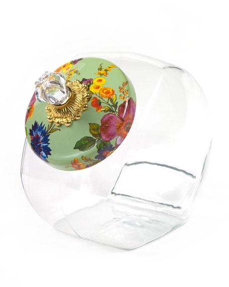 MacKenzie-Childs Green Flower Market Cookie Jar
