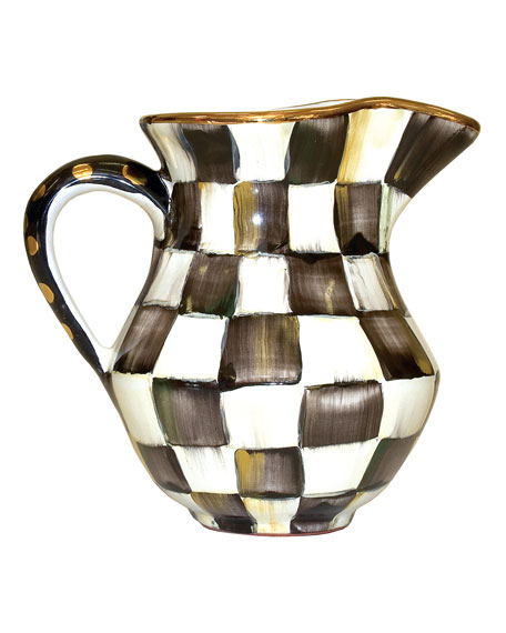 MacKenzie-Childs Courtly Check Creamer/Pitcher