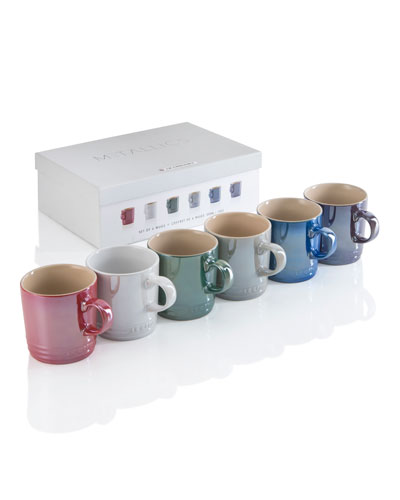 Assorted Coffee Mugs, Set of 6