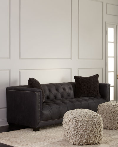 Paxton Tufted Leather Sofa