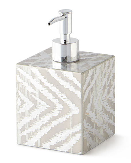 Kim Seybert Zebra Soap Pump Dispenser